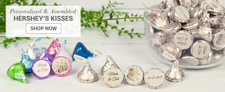 Personalized Assembled Hershey's Kiss Chocolate Favors