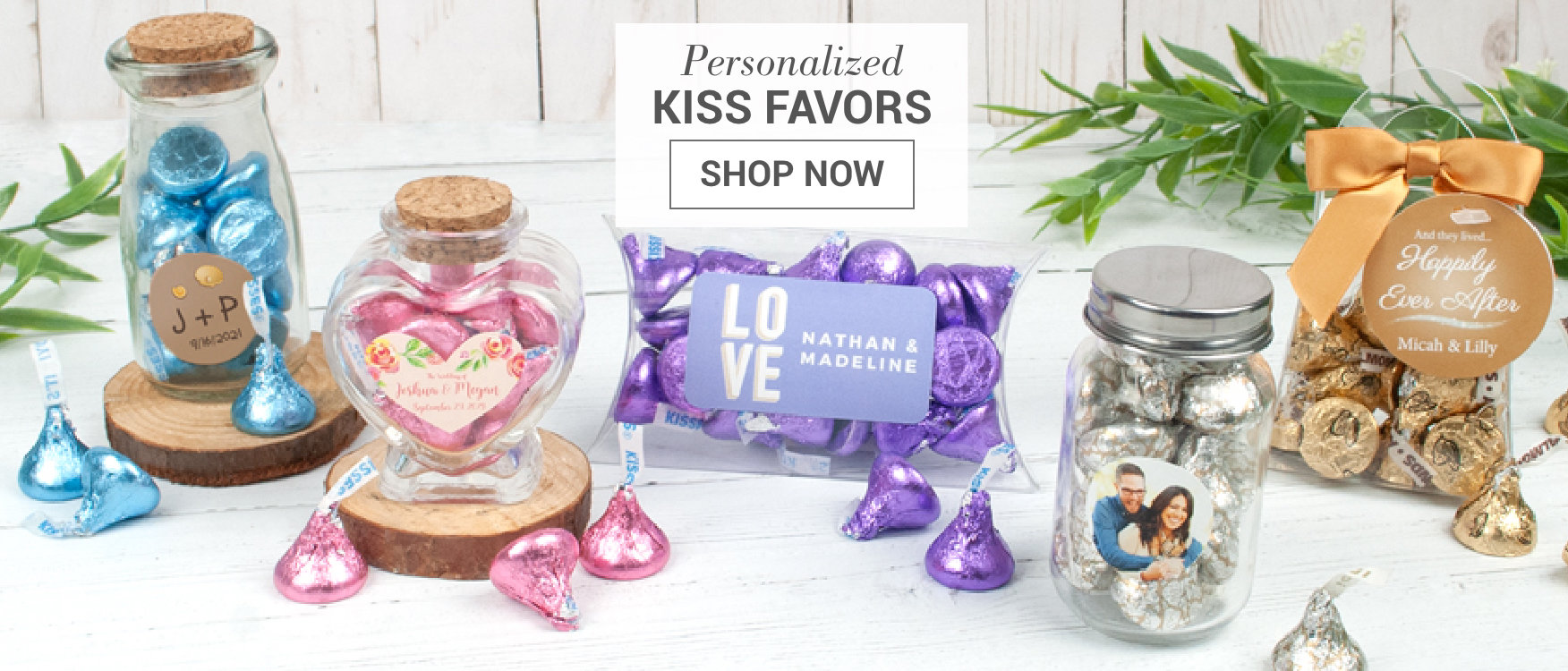 Personalized Hershey's Kiss Chocolate Favors
