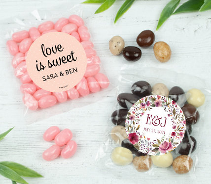 Personalized Wedding Candy Bag Favors