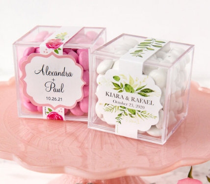 Personalized Just Candy Favor Cubes
