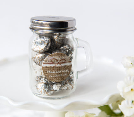 Personalized Glass Container Wedding Favors