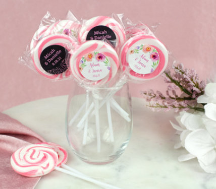 PERSONALIZED LOLLIPOP WEDDING FAVORS