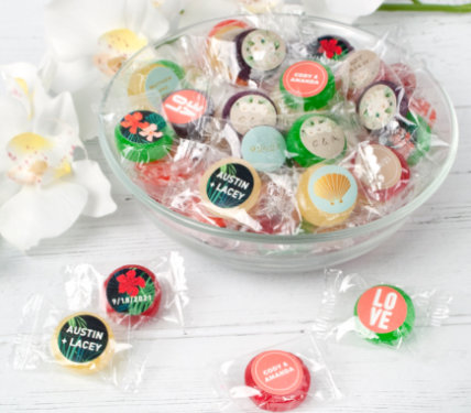 PERSONALIZED HARD CANDY WEDDING FAVORS
