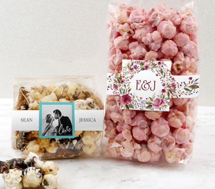 Personalized Popcorn Wedding Favors