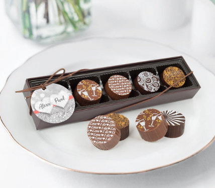 Personalized Wedding Truffle Favors