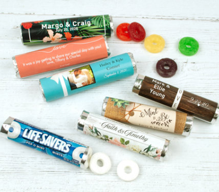 Personalized Lifesaver rolls Wedding Favors
