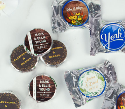 Personalized Wedding Peppermint Patties