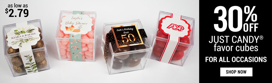 Shop Personalized Communion JUST CANDY ® favor cubes