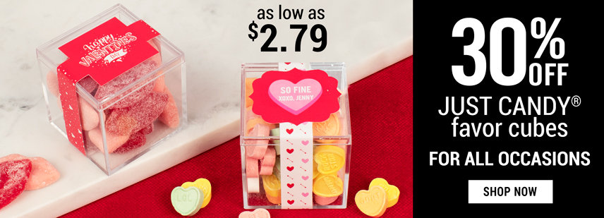 JUST CANDY® favor cubes