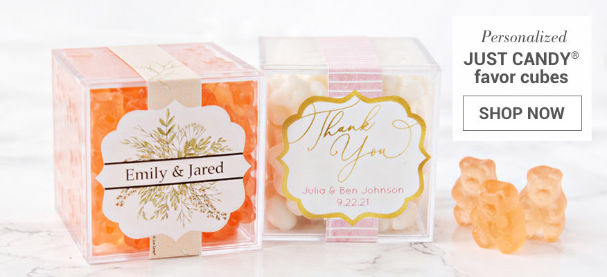 Personalized Just Candy Favor Cubes Wedding Favors