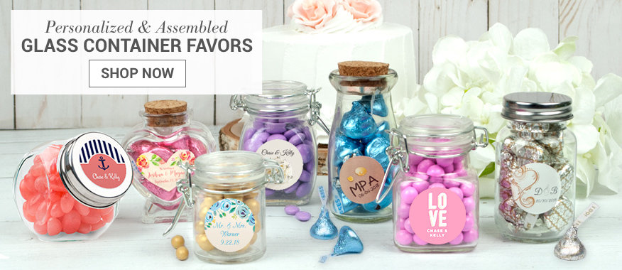 Personalized Glass Container Favors