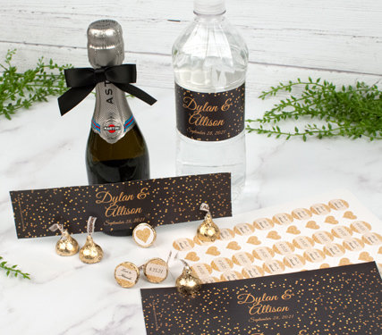 PERSONALIZED LABELS AND STICKERS FOR WEDDING FAVORS
