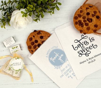 PERSONALIZED DIY BAGS & BOXES WEDDING FAVORS