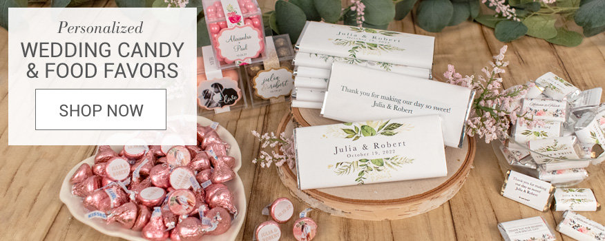 Personalized Wedding Candy & Food Favors