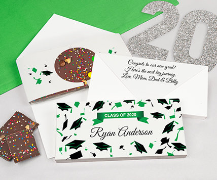 green grad gourmet infused chocolate bars