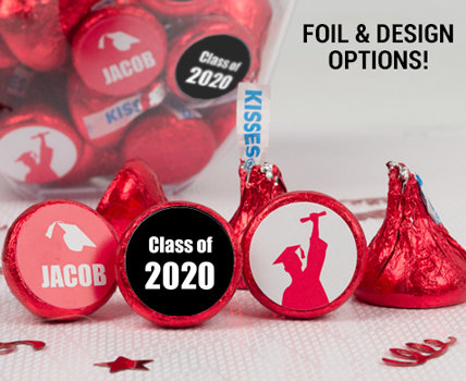 Red Graduation Hershey's Kisses