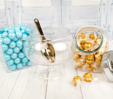 PERSONALIZED CANDY BUFFET WEDDING CONTAINERS