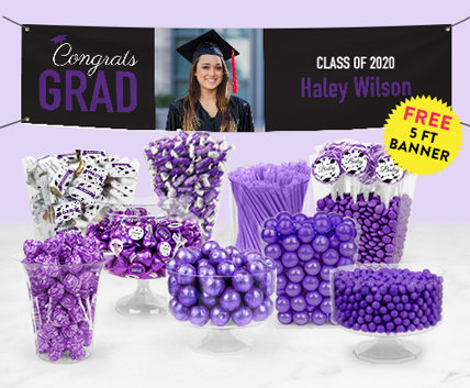 Purple Graduation Candy Buffets