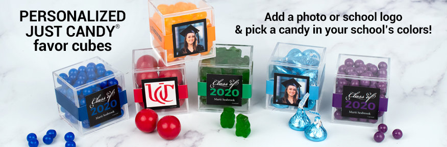 Shop Personalized Graduation Candy Cube Favors