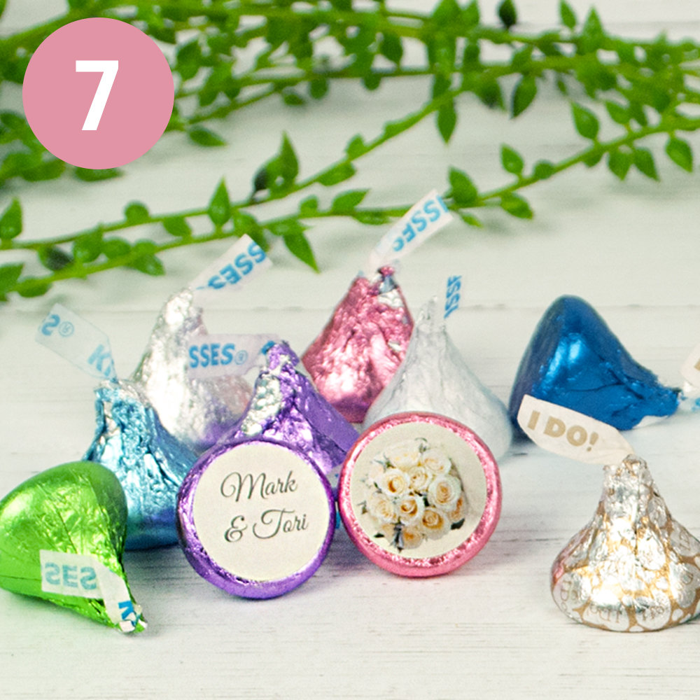 PERSONALIZED AND ASSEMBLED WEDDING HERSHEY'S KISSES