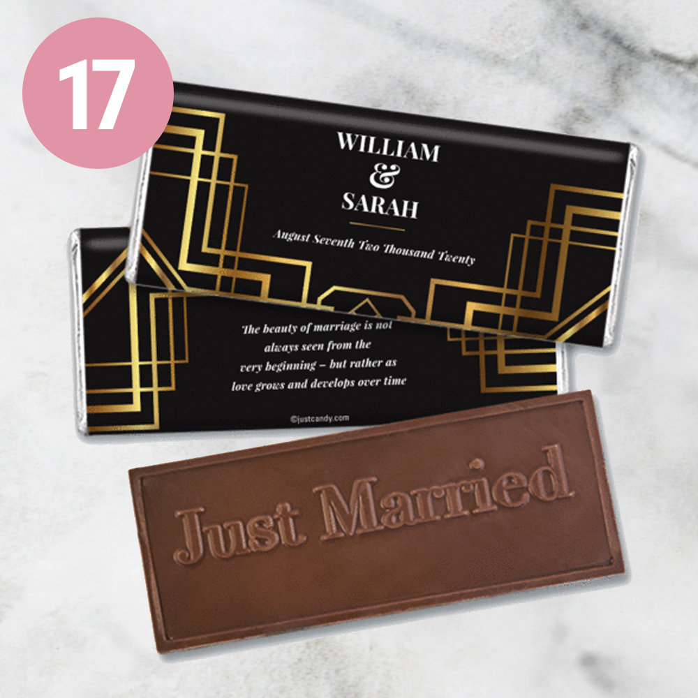 Personalized Wedding Embossed Chocolate Bars