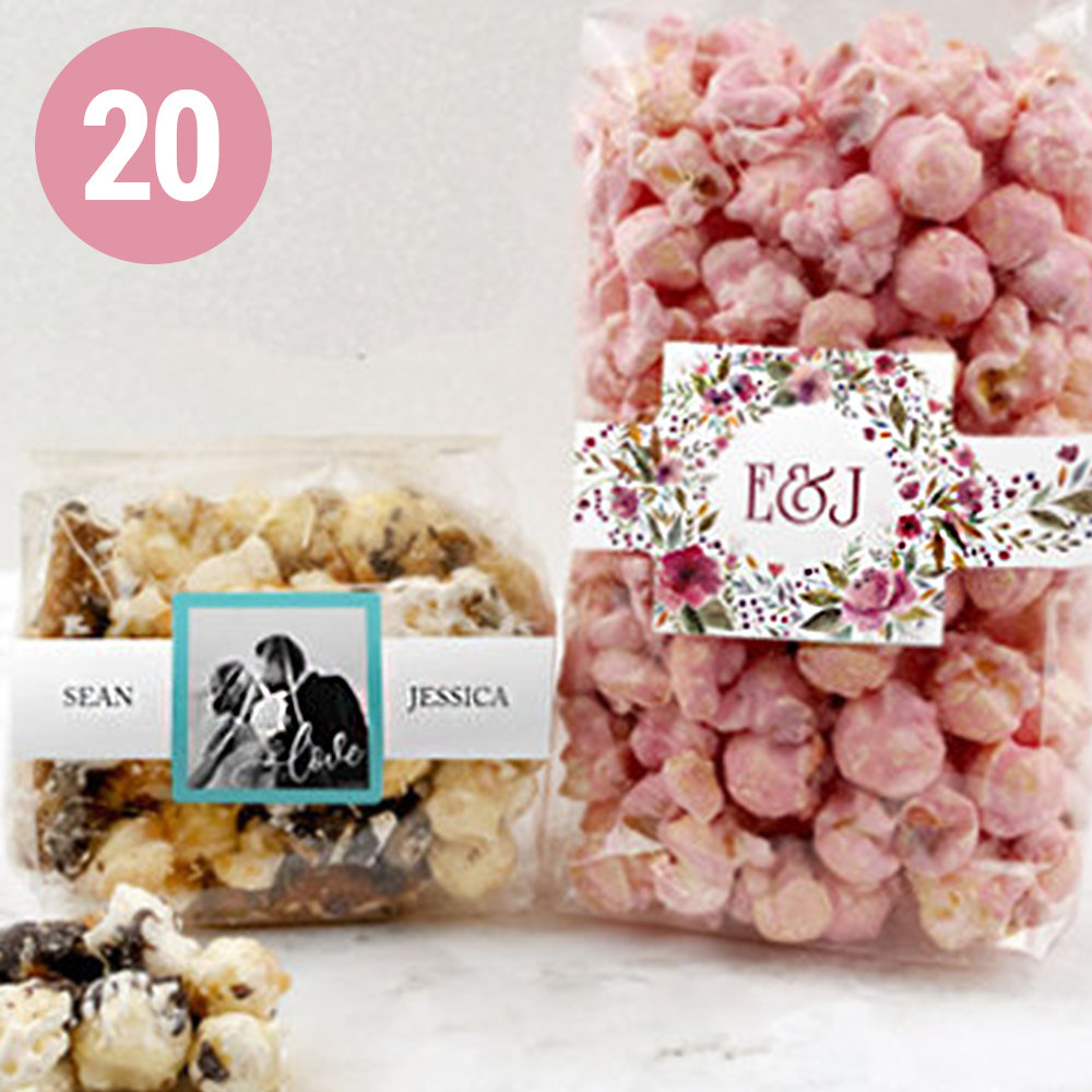 PERSONALIZED WEDDING POPCORN FAVORS