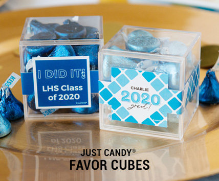 Shop Graduation Personalized Sweet Candy in a Cube Favors