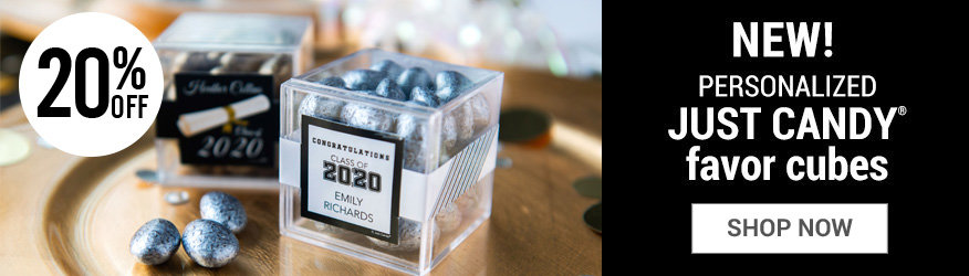 Shop Graduation Personalized Candy in a cube favors