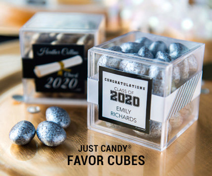 Shop Graduation Candy in a cube Favors