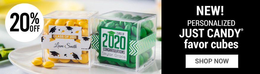 Shop Personalized Graduation Sweet Candy Cube Favors