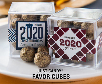 Shop 3Personalized Sweet Candy in a Cube Favor