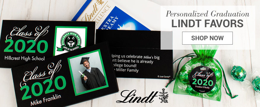 Personalized Green Lindt Boxes & Favors
