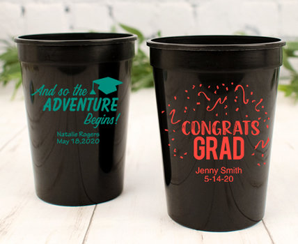 Personalized Graduation Plastic Cups