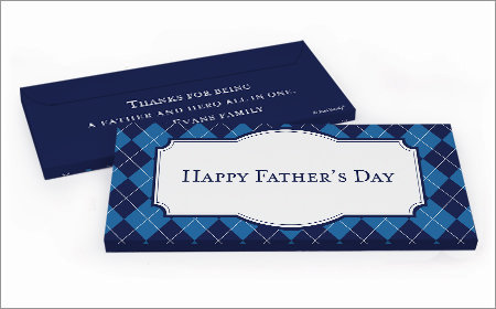 Personalized Father's Day chocolate bar in a gift box