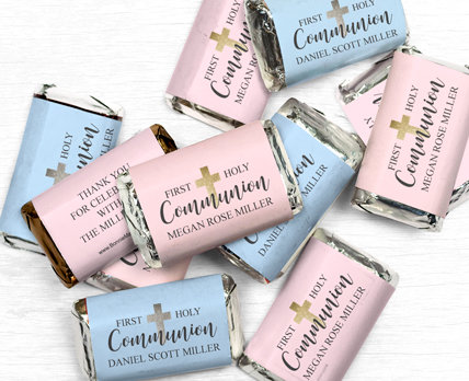 Personalized first holy communion Miniatures Bars