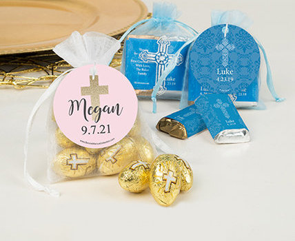personalized first holy communion Candy filled favors