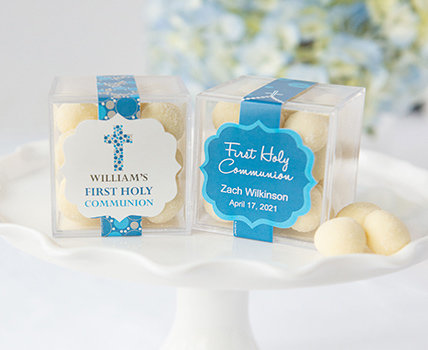 personalized first holy communion JUSTCANDY® favor cubes