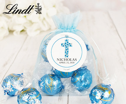 Personalized Holy communion lindt favors