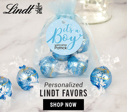 Personalized Baby Shower Lindt Favors