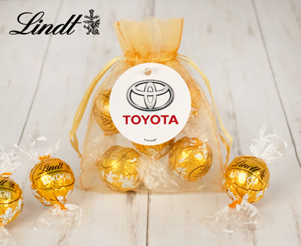 Personalized Business  Lindt Favors