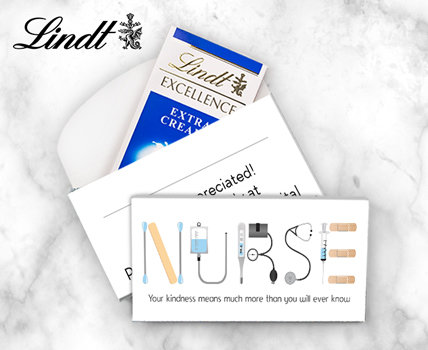 Personalized Nurse Appreciation Lindt Favors