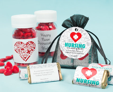 Personalized Nurse Appreciation Candy Filled Favors