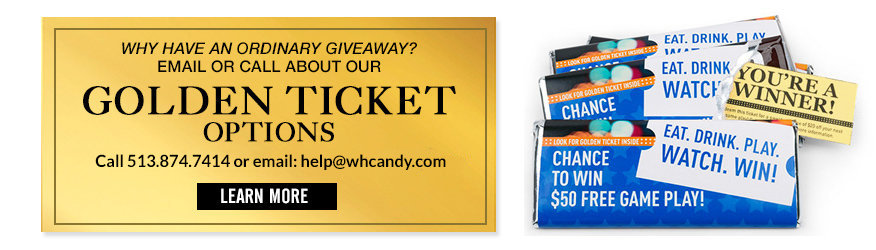 Call to order Golden Tickets to Add to Chocolate Bars