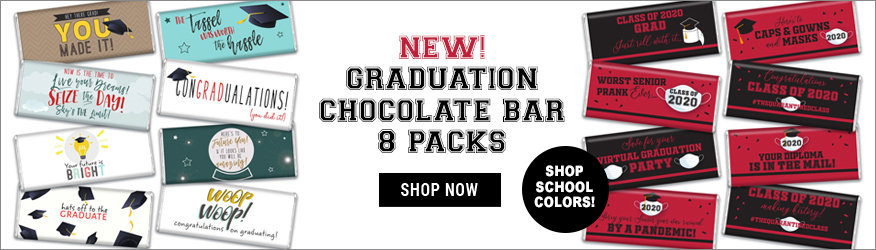 Graduation 8 Pack Chocolate Bars