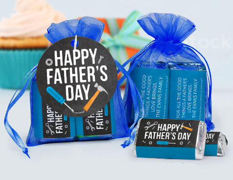 Fathers Day Personalized candy filled favors