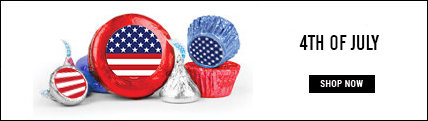 """4th of July 3/4"""" Stickers"""