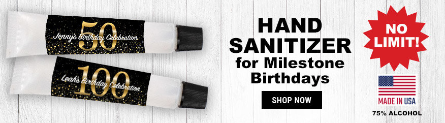 Milestone Birthday Hand Sanitizer