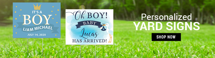 Personalized Boy Birth Announcement Yard Signs