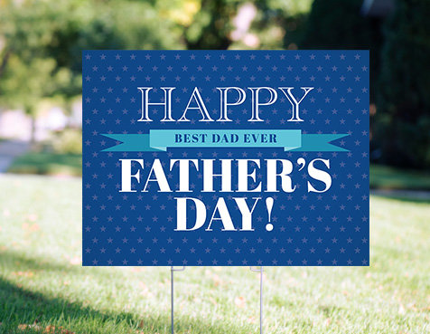 Personalized Father's Day Yard Signs