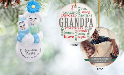 Personalized grandparent Christmas Ornaments